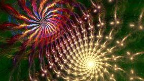 Fondo di frattale con le forme curve del rotolo astratto Alto ciclo dettagliato archivi video
