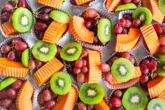 Fondo di frutta mista fresca Fotografia Stock