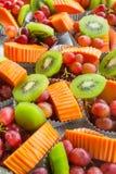 Fondo di frutta mista fresca Fotografia Stock Libera da Diritti