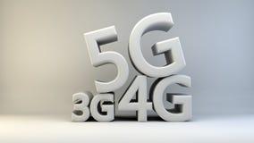 fondo di 3G 4G 5G Fotografia Stock