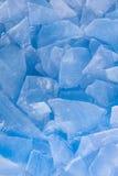 Fondo di ghiaccio blu Fotografia Stock Libera da Diritti