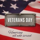 Fondo di giornata dei veterani Fotografia Stock Libera da Diritti