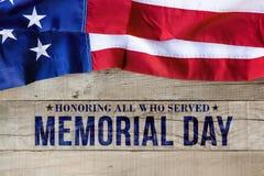 Fondo di Giorno dei Caduti con la bandiera americana Fotografie Stock