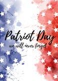 Fondo di giorno del patriota di U.S.A. Immagine Stock