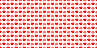 Fondo di giorno del ` s del biglietto di S Modello senza cuciture delle icone dei cuori di amore Struttura ripetuta estratto Simb royalty illustrazione gratis