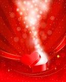 Fondo di giorno del ` s del biglietto di S. Valentino con la casella Immagine Stock Libera da Diritti