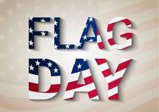 Fondo di giorno della bandiera Fotografia Stock Libera da Diritti