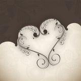 Fondo di giorno di biglietti di S. Valentino. illustrazione vettoriale