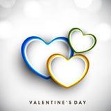 Fondo di giorno di biglietti di S. Valentino. Fotografia Stock