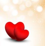 Fondo di giorno di biglietti di S. Valentino. Immagini Stock