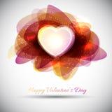 Fondo di giorno di biglietti di S. Valentino Fotografie Stock Libere da Diritti