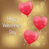 Fondo di giorno di biglietti di S. Valentino Immagini Stock