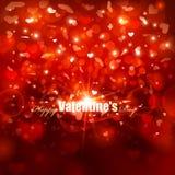 Fondo di giorno di biglietti di S. Valentino Fotografia Stock