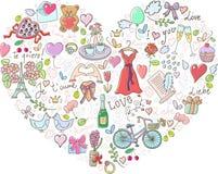 Fondo di giorno di biglietti di S. Valentino Immagine Stock Libera da Diritti