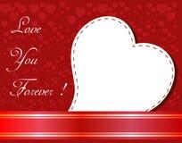 Fondo di giorno di biglietti di S. Valentino bello con gli ornamenti ed il cuore. Fotografie Stock Libere da Diritti