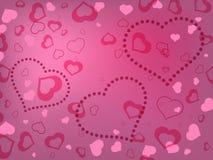 Fondo di giorno di biglietti di S. Valentino con i cuori Immagini Stock Libere da Diritti