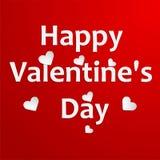 Fondo di giorno di biglietti di S. Valentino con i cuori. Illu di vettore Fotografia Stock