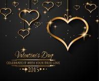 Fondo di giorno di biglietti di S. Valentino di San per gli inviti della cena Fotografia Stock Libera da Diritti
