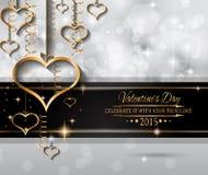 Fondo di giorno di biglietti di S. Valentino di San per gli inviti della cena Fotografia Stock