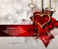 Fondo di giorno di biglietti di S. Valentino di San per gli inviti della cena Fotografie Stock