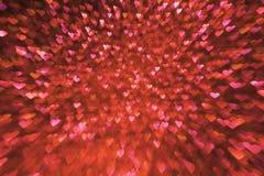 Fondo di giorno di biglietti di S. Valentino, luci rosse dei cuori del biglietto di S. Valentino Immagini Stock