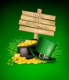 Fondo di giorno di Patricks del san Immagine Stock