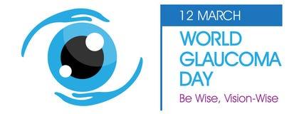 Fondo di giorno di glaucoma del mondo Immagini Stock Libere da Diritti