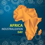 Fondo di giorno di industrializzazione dell'Africa Fotografie Stock Libere da Diritti
