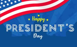 Fondo di giorno di presidenti o vettore felice del manifesto, illustrazione, grafico illustrazione di stock