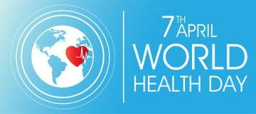 Fondo di giorno di salute di mondo il 7 aprile illustrazione vettoriale