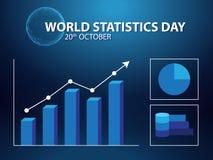 Fondo di giorno di statistiche del mondo royalty illustrazione gratis