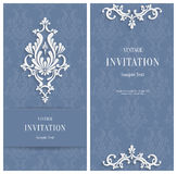 Fondo di Grey Floral 3d di vettore Modello per le carte dell'invito o di nozze Fotografia Stock