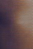 Fondo di griglia del metallo colorato rame di Brown Fotografia Stock Libera da Diritti
