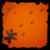 Fondo di Halloween con il giocattolo Fotografie Stock Libere da Diritti
