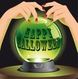 Fondo di Halloween con la sfera magica Immagine Stock Libera da Diritti
