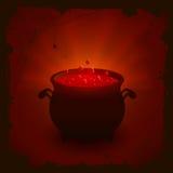 Fondo di Halloween con pozione rossa Fotografia Stock