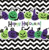 Fondo di Halloween delle zucche allegre Priorità bassa astratta di autunno Immagini Stock