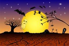 Fondo di Halloween di scarabocchio royalty illustrazione gratis