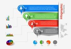 Fondo di Infographic di affari illustrazione vettoriale