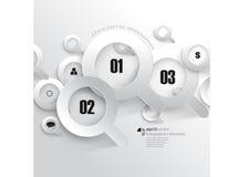 Fondo di infographics dell'icona di ricerca di vettore Immagine Stock