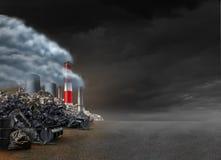 Fondo di inquinamento Immagine Stock
