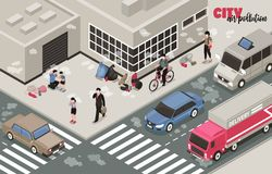 Fondo di inquinamento atmosferico royalty illustrazione gratis