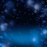Fondo di inverno dell'estratto della neve di notte per il Natale o il nuovo anno royalty illustrazione gratis