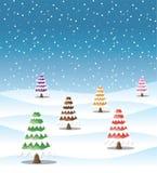 Fondo di inverno della neve Fotografia Stock Libera da Diritti