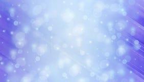 Fondo di inverno di Abstact con le luci del bokeh Fotografie Stock