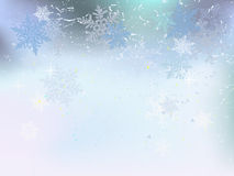 Fondo di inverno, fiocchi di neve - illustrazione di vettore Immagini Stock Libere da Diritti