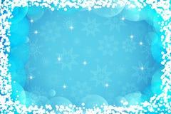 Fondo di inverno per le cartoline d'auguri di feste Contesto del buon anno e di Buon Natale Carta da parati astratta del fiocco d illustrazione vettoriale