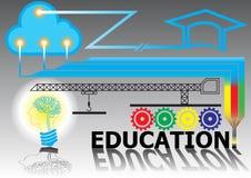 Fondo di istruzione del collegamento di tecnologia Immagine Stock