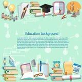 Fondo di istruzione di nuovo all'università della scuola royalty illustrazione gratis