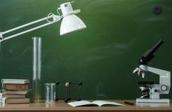 Fondo di istruzione Di nuovo al concetto del banco Fotografia Stock Libera da Diritti